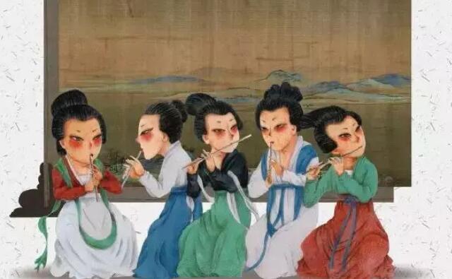 卡通版《韩熙载夜宴图》.jpeg