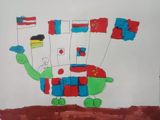 儿童绘画作品乌龟汽车.jpeg