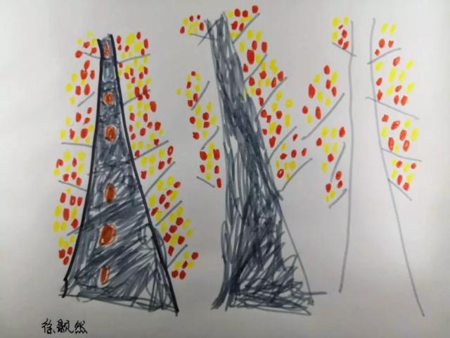 少儿美术作品秋天的树.jpeg