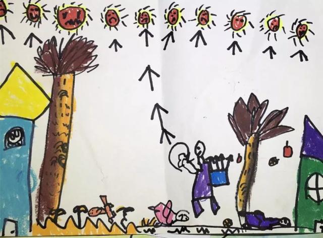 儿童画画作品后羿射日.jpeg