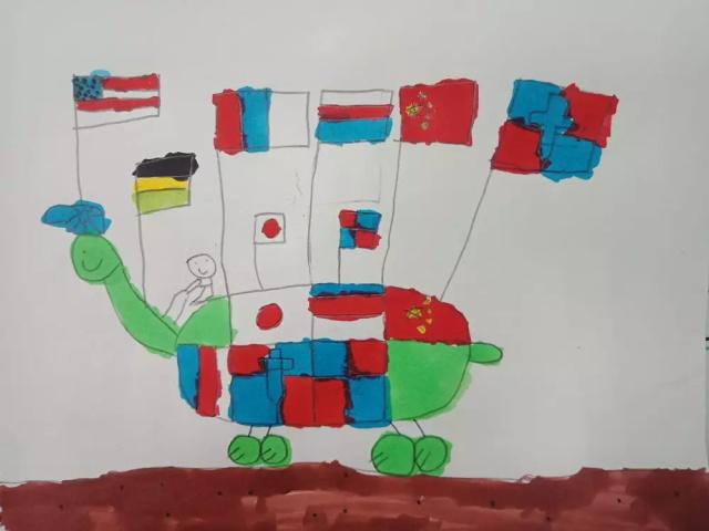 幼儿绘画作品展示