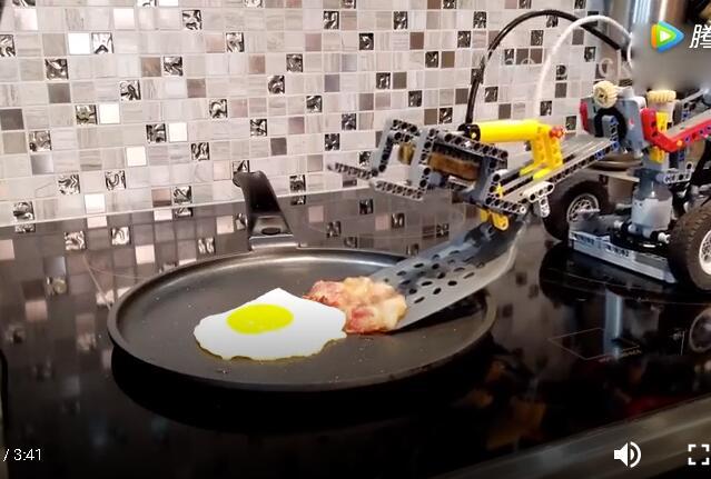 乐高机器人做早餐