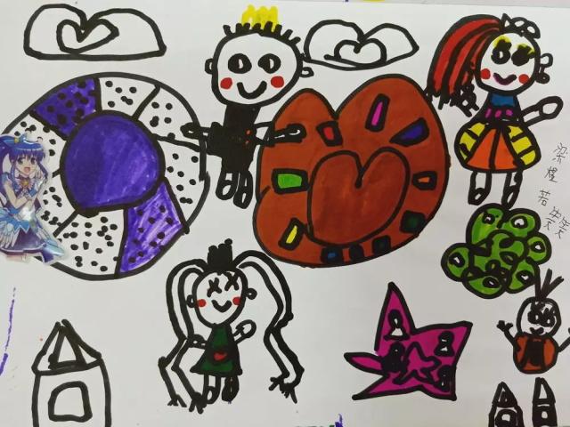 儿童创意美术作品